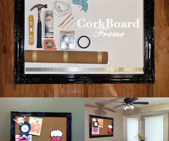 Cork Board Frame Tutorial