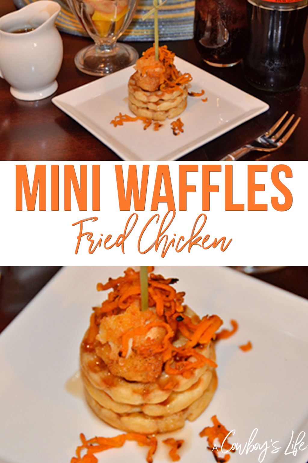 How to make mini waffles and fried chicken #chickenandwaffles #chickenrecipes #waffles