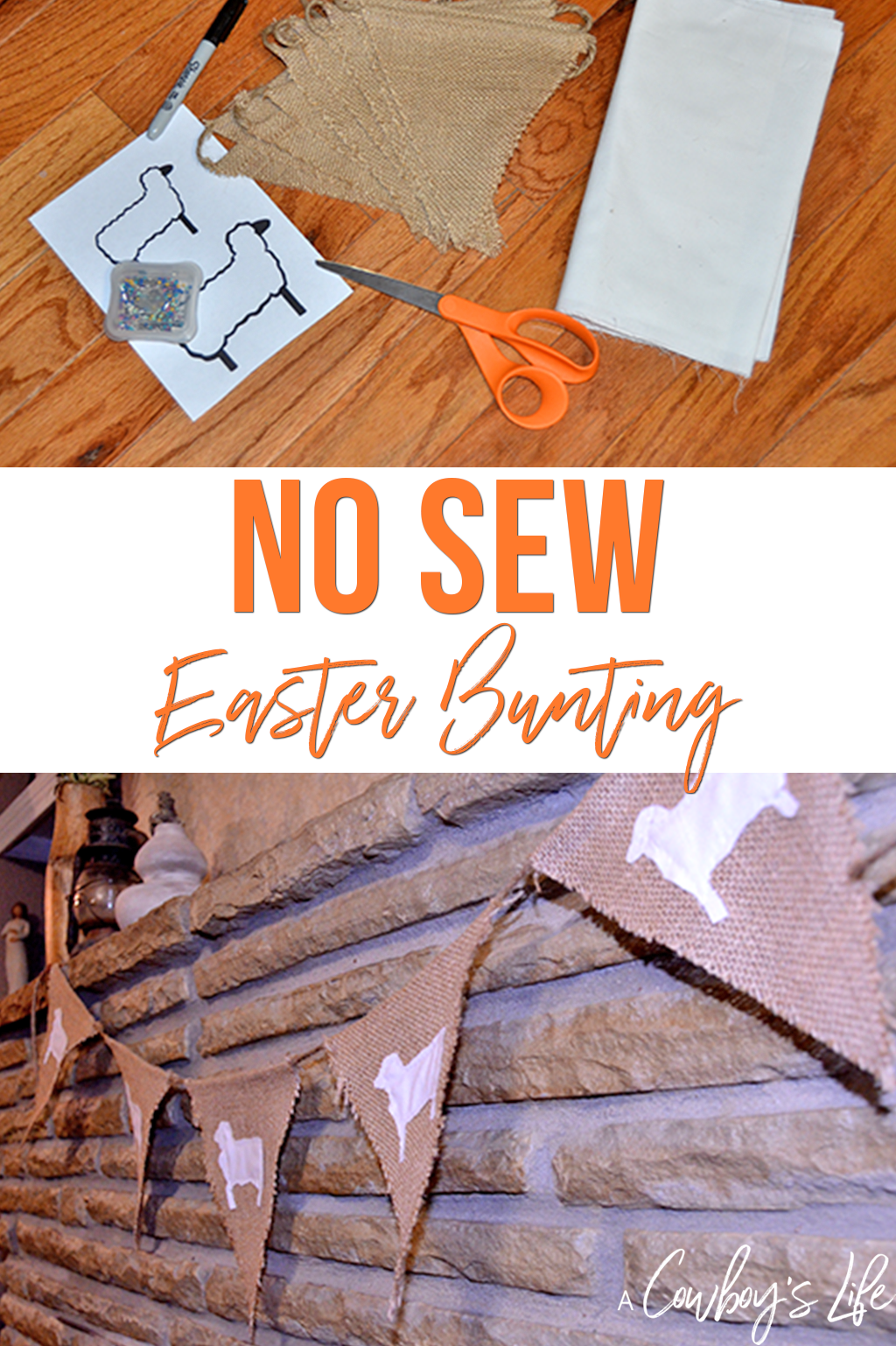 How to make a no sew Easter bunting #easter #easterdecor #easterdiy