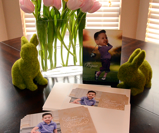 Easter Photo Card & Easel {Tiny Prints Collaboration}