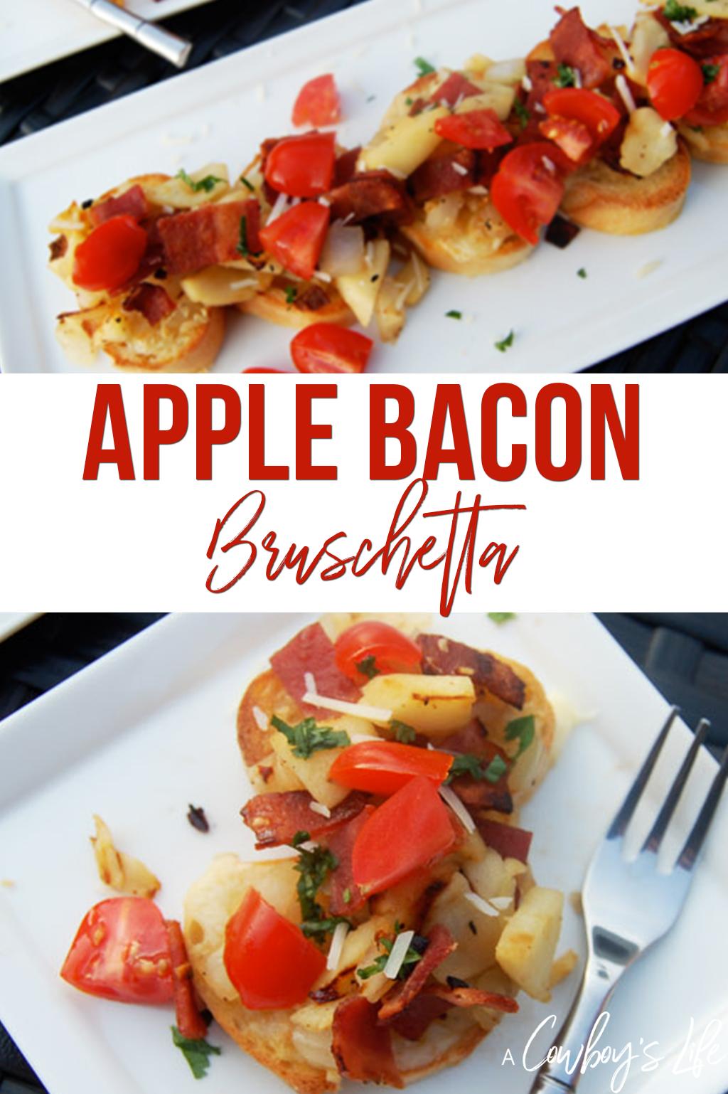 How to make bacon apple bruschetta #bruschetta #appetizers