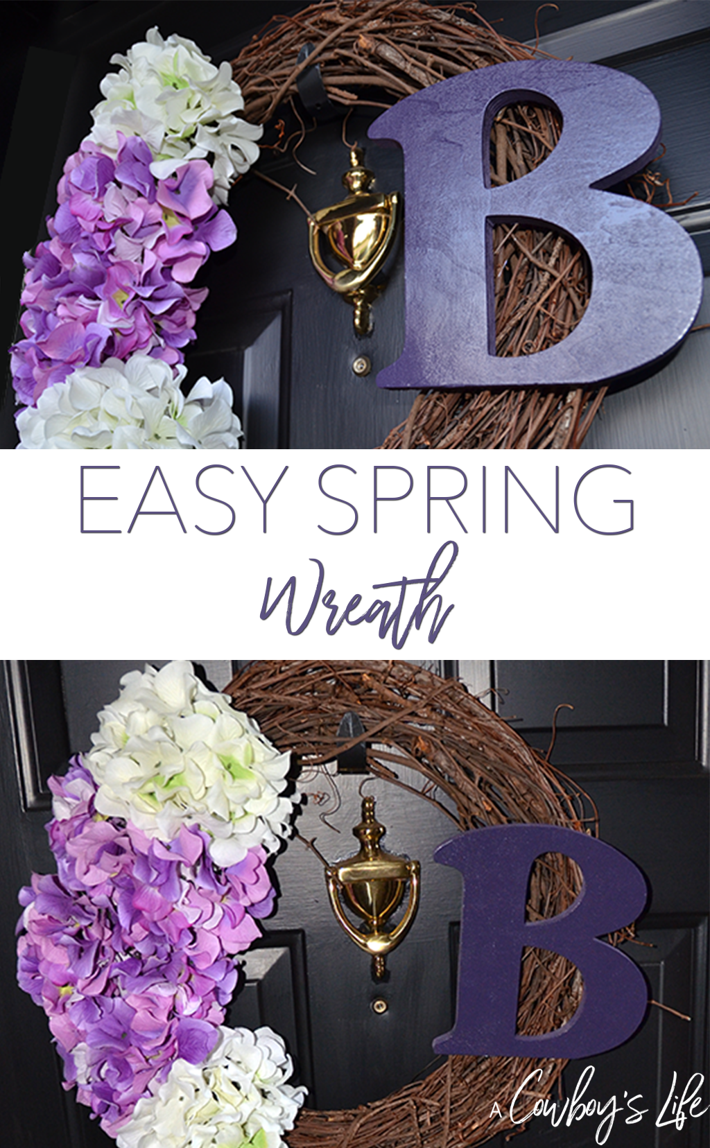 DIY Spring Wreath #wreath #diy #diydecor