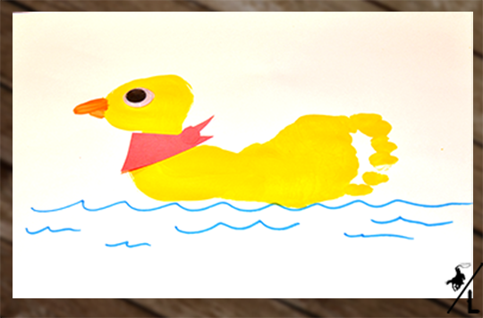 footprint duck craft