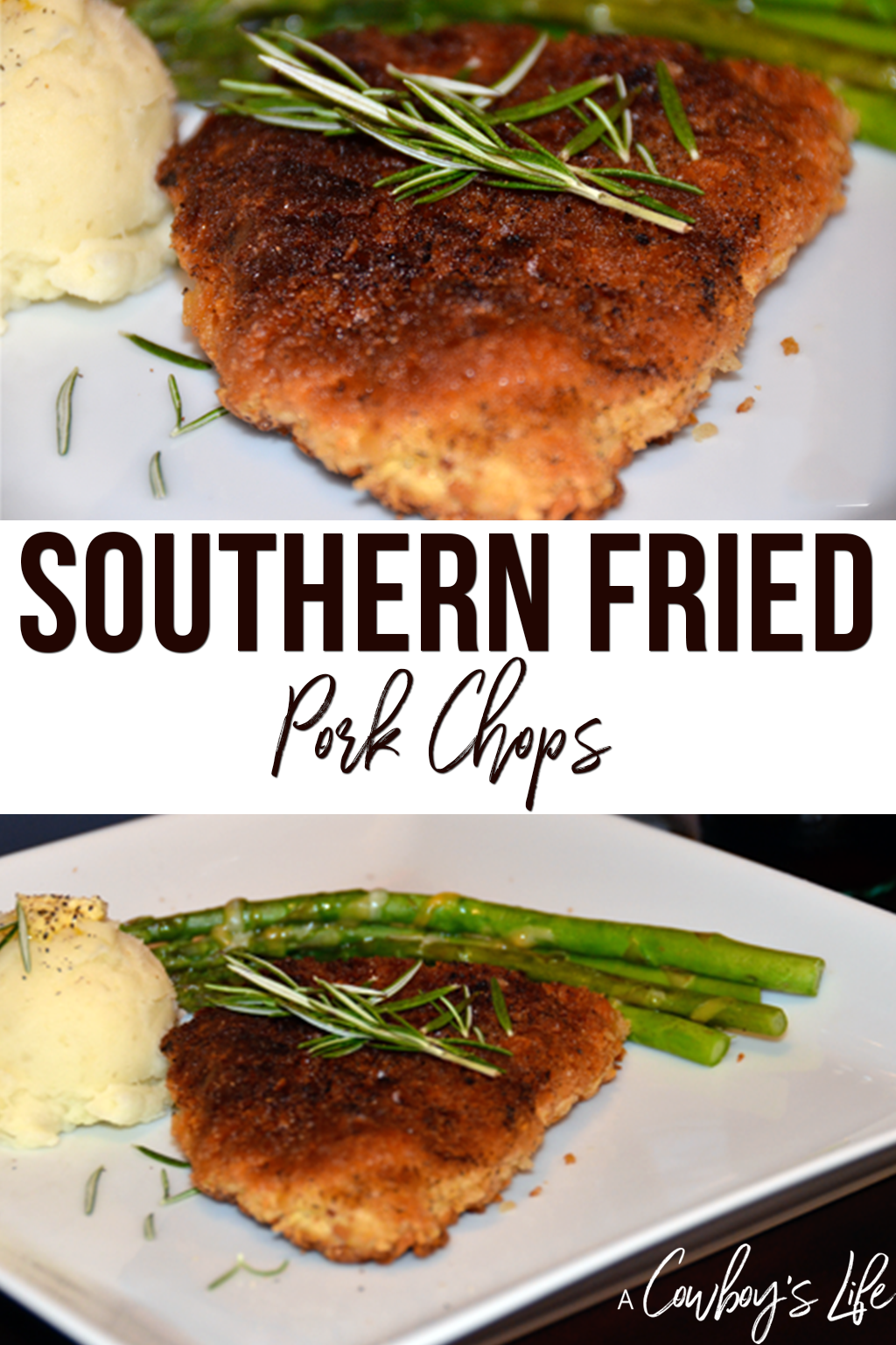 How to make southern fried pork chops #porkchops #friedporkchops