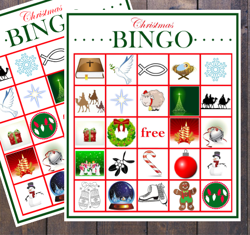 kids christmas bingo printable