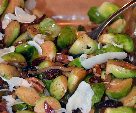Pan Roasted Brussels Sprouts