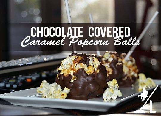Chocolate Covered Popcorn Balls