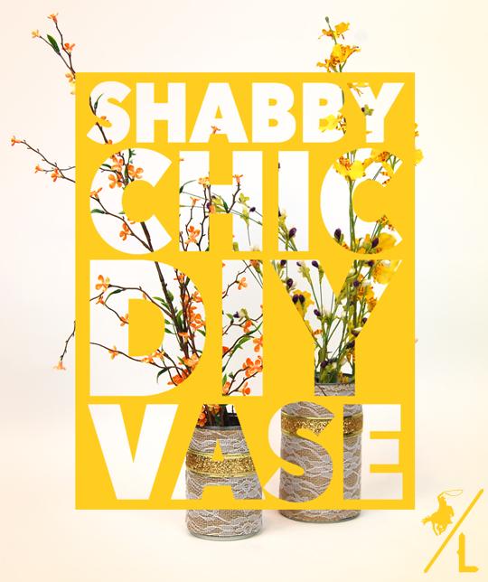 Shabby Chic DIY Vase
