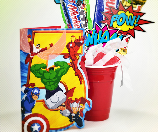 MARVELous Cards & Candy Bouquet