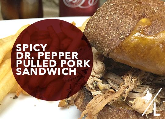 Spicy Dr. Pepper Pulled Pork Sandwich