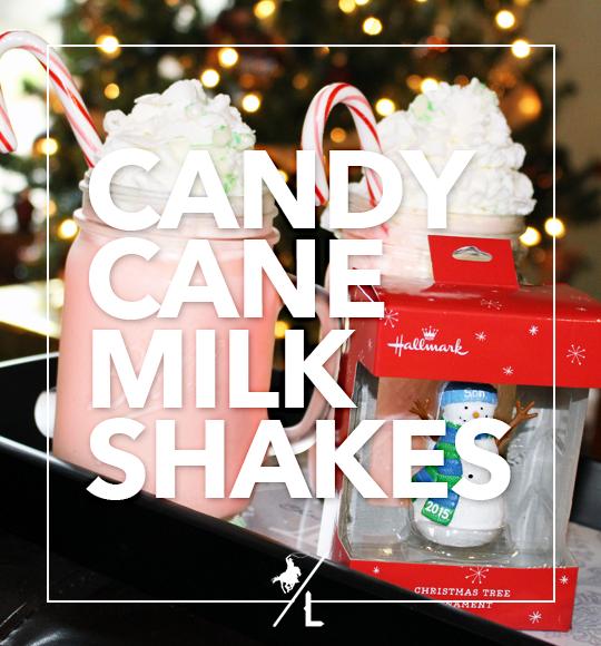 Candy Cane Milkshakes