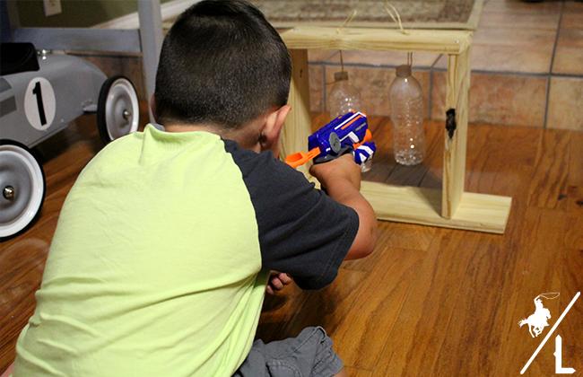 DIY Nerf Gun Target - A Cowboys Life