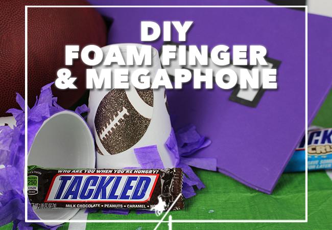 DIY Foam Finger & Megaphone