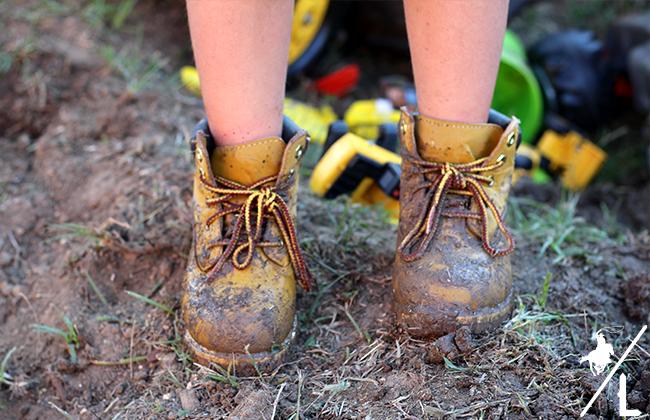 Walkin' Around in Muddy Boots