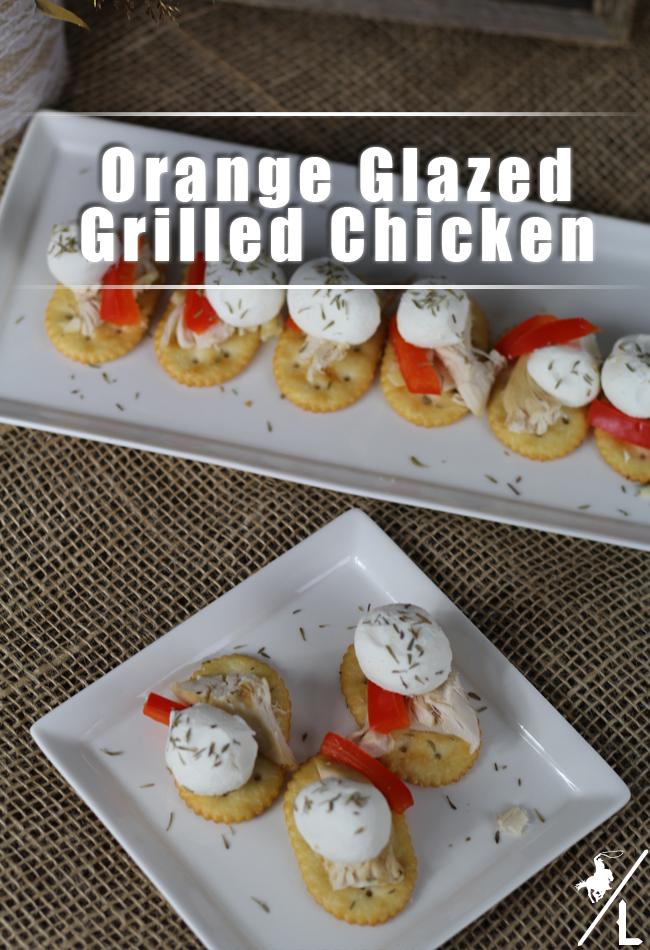 Orange Glazed Grilled Chicken | appetizer | grilled chicken | orange chicken | party food #grilledchicken #chickendinner #appetizer