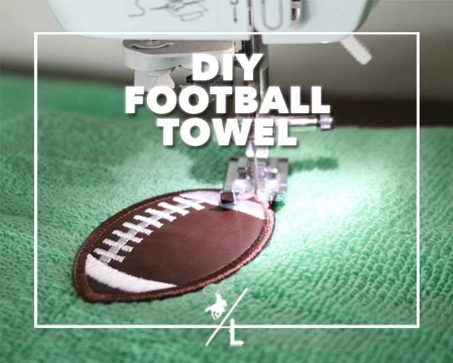 DIY Football Towel