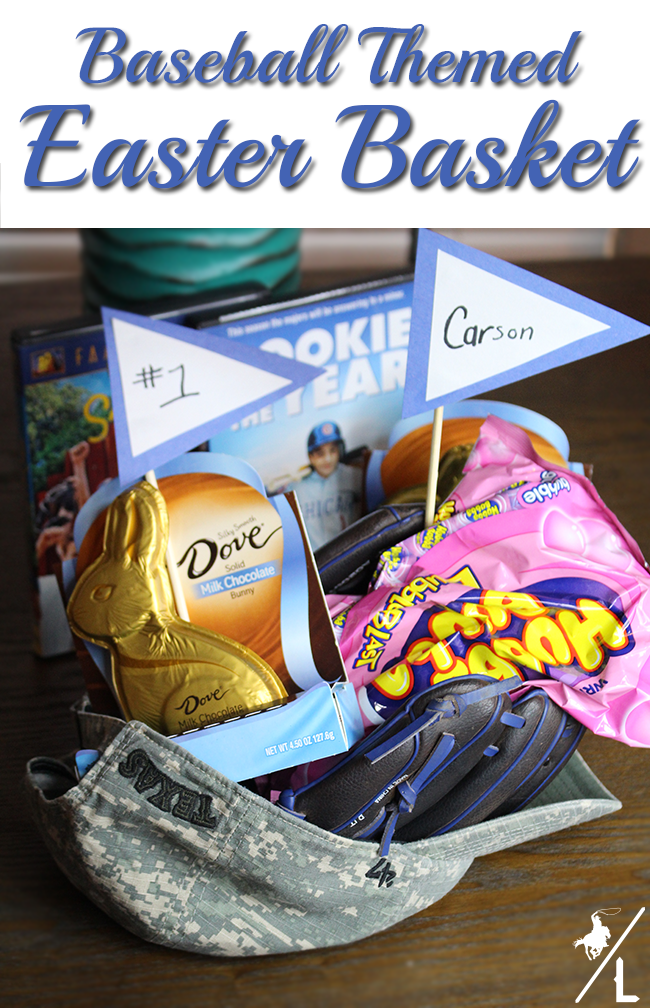 Baseball themed easter basket a cowboys life what easter basket ideas will you be making for your family what do you include in your baskets you can find more ideas and inspiration here negle Gallery