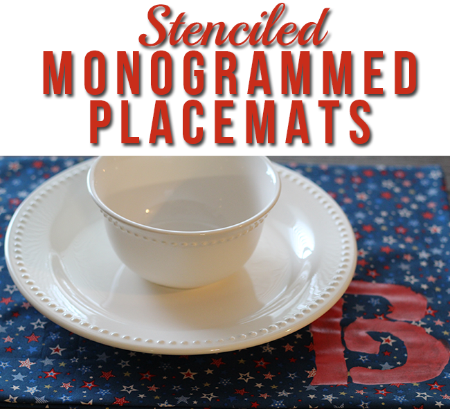 Stenciled Monogrammed Placemats