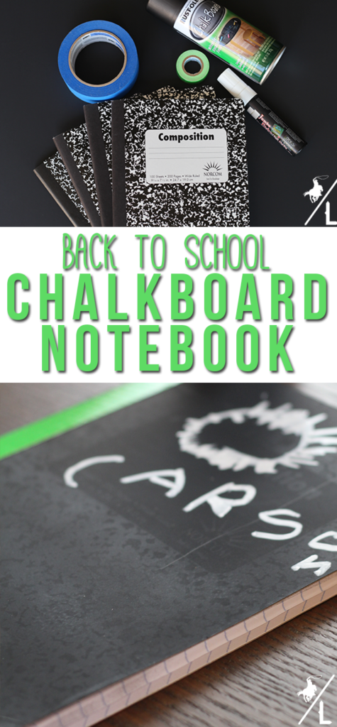 DIY chalkboard notebook | Kids Craft | Back to School | Back to School Craft #diynotebook #backtoschool #acowboyslife
