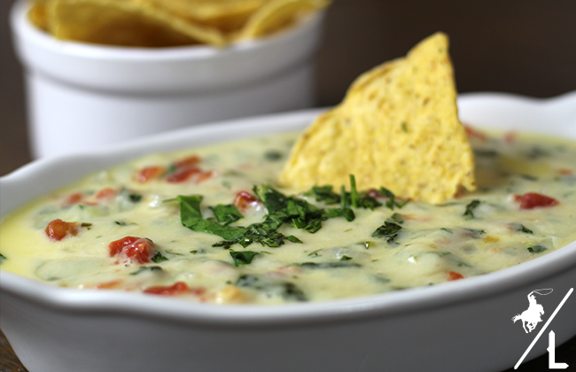 White Spinach Queso