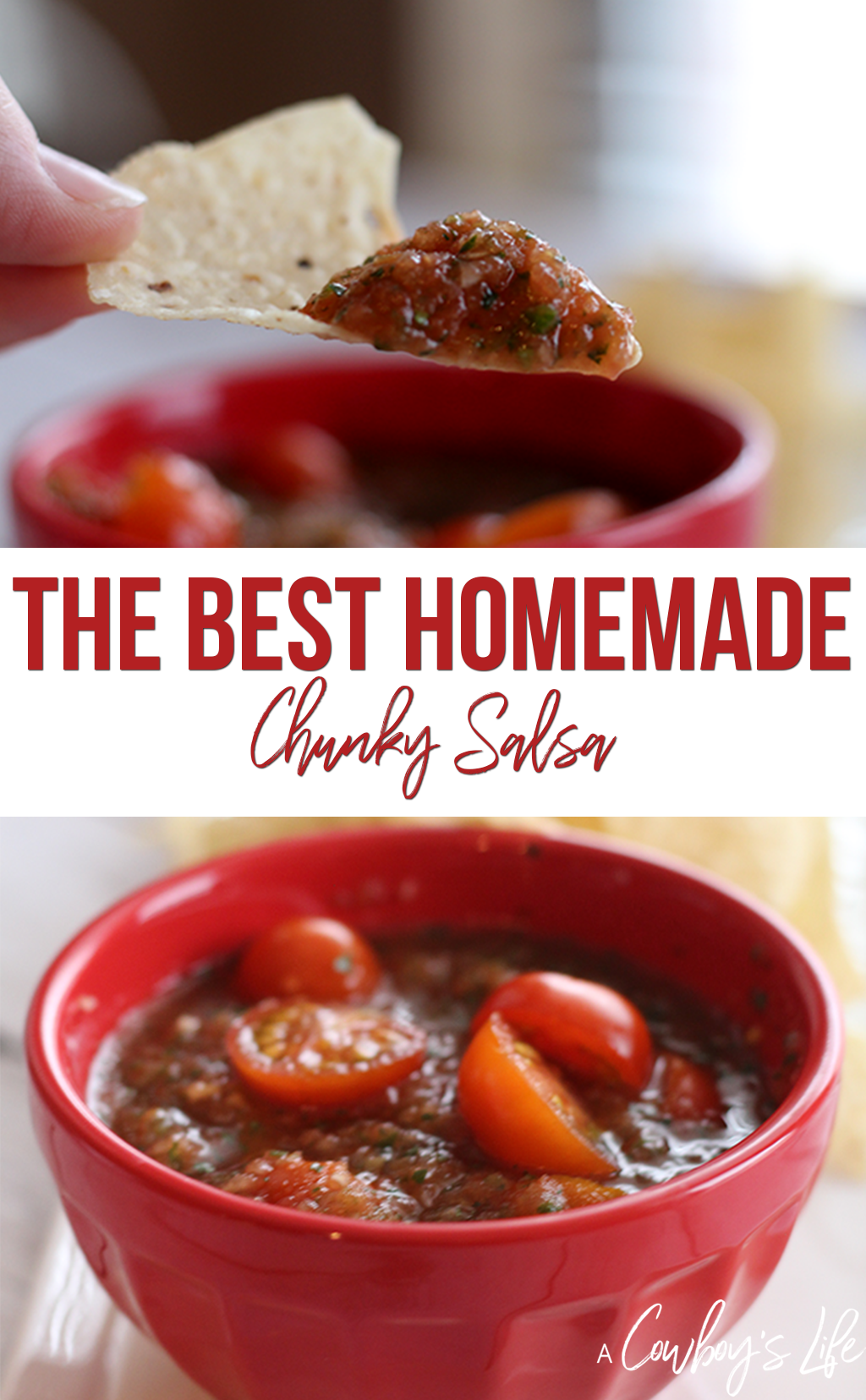 How to make the best homemade chunky salsa. #salsa #homemadesalsa #appetizer