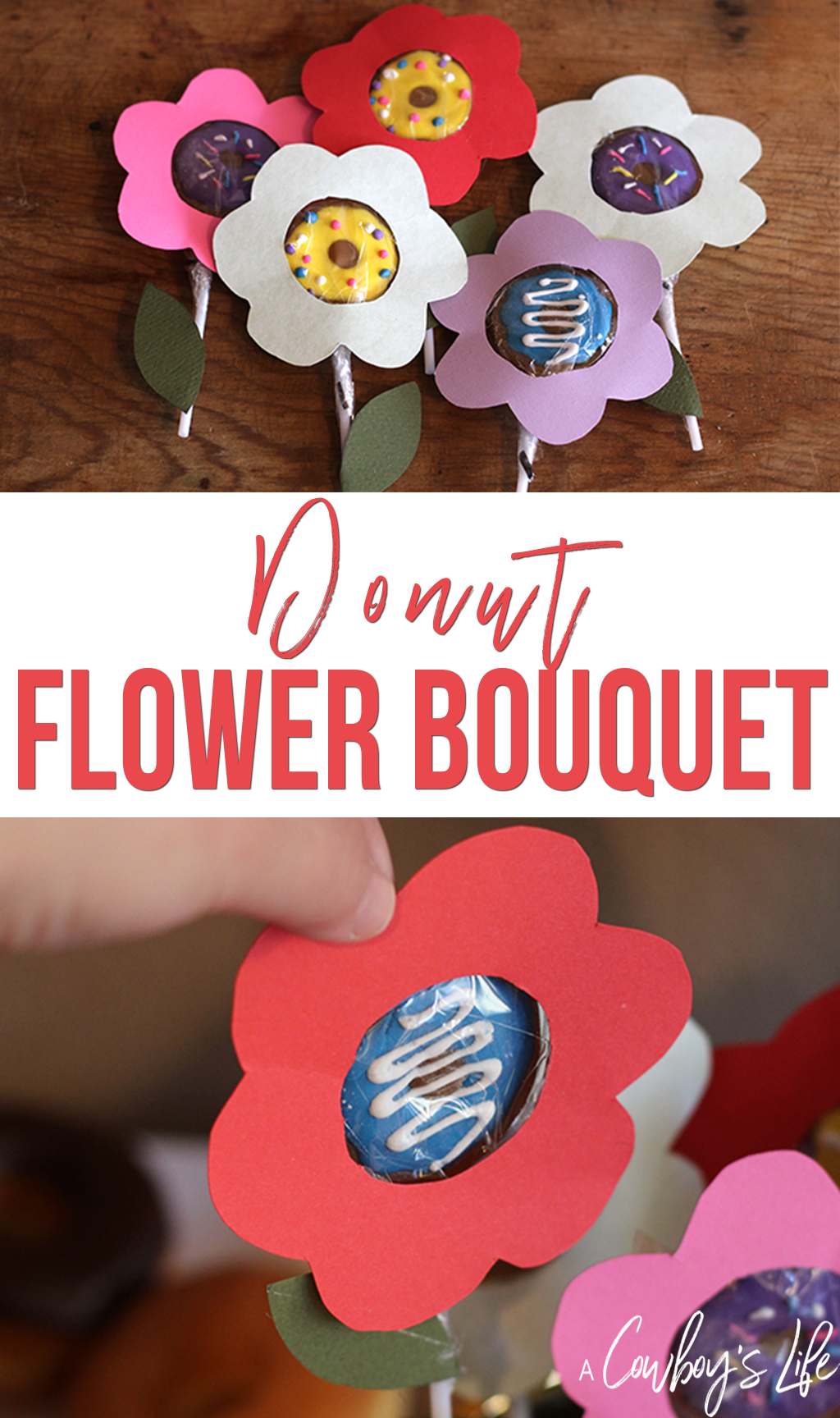 How to make a candy donut flower bouquet
