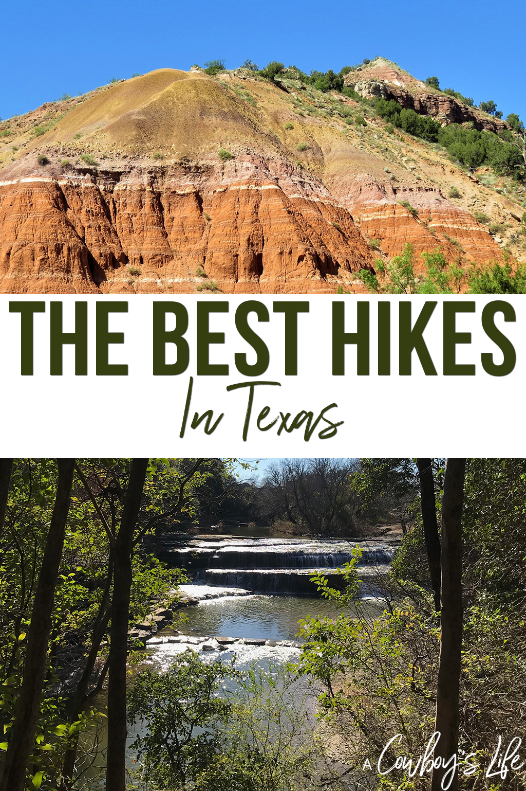A list of great places to hike in Texas #hiking #Texashikes #traveltexas