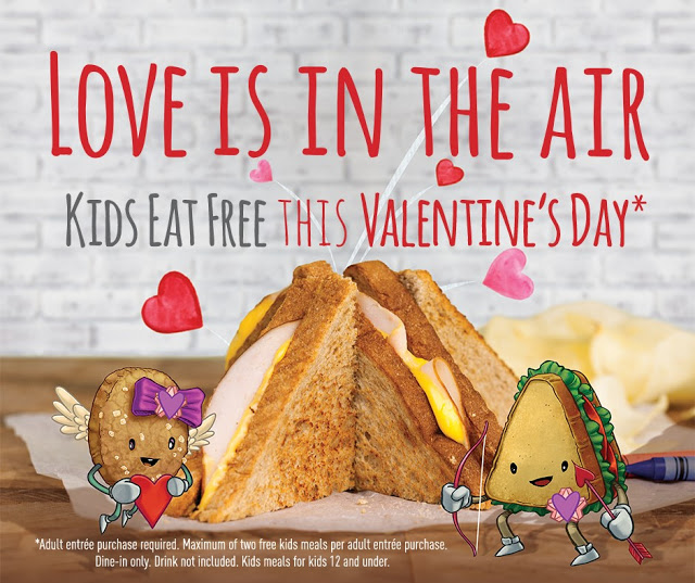 Kids Eat Free at McAlister's Deli on Valentines Day + GC Giveaway