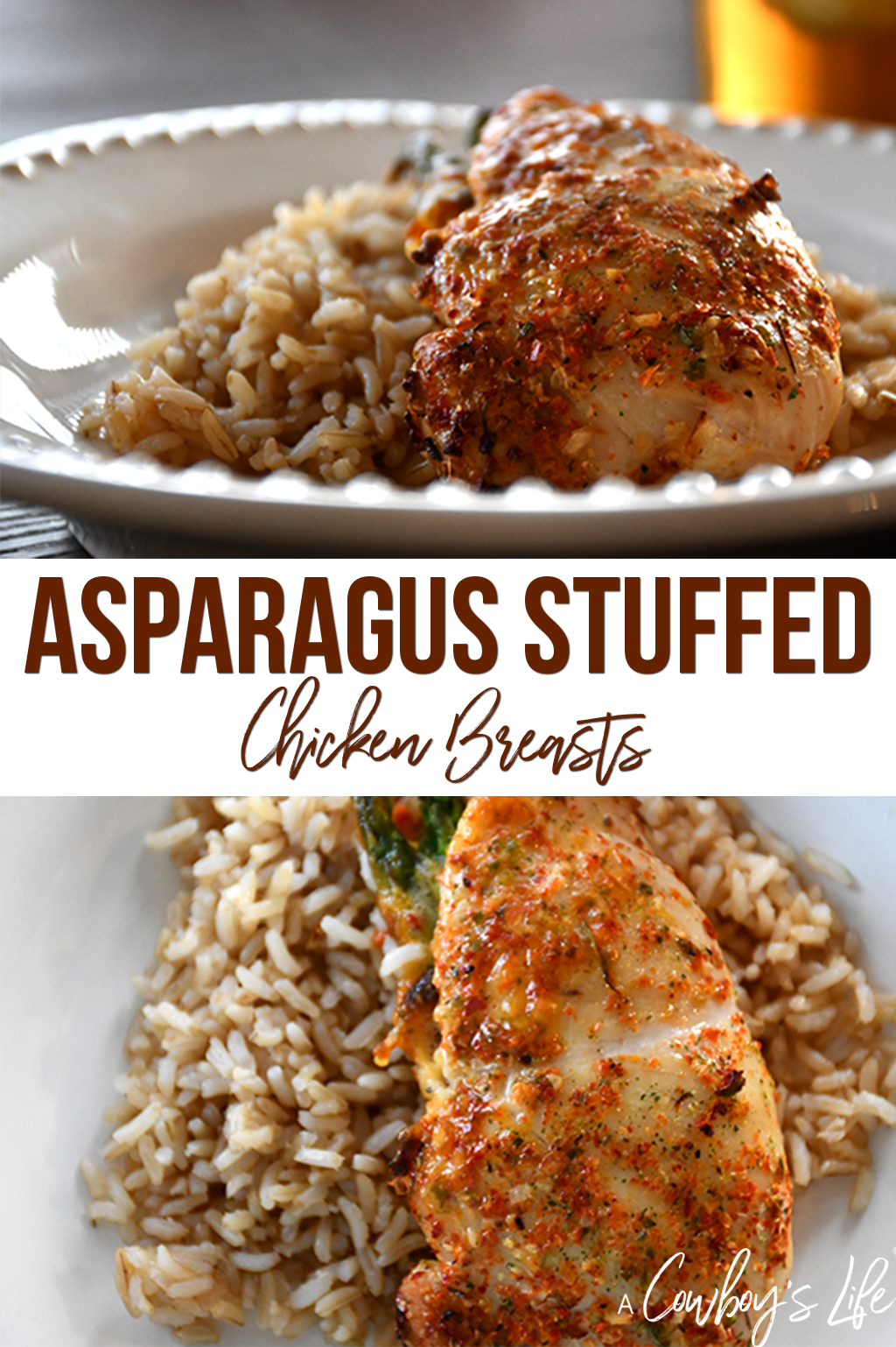 How to make asparagus stuffed chicken breasts