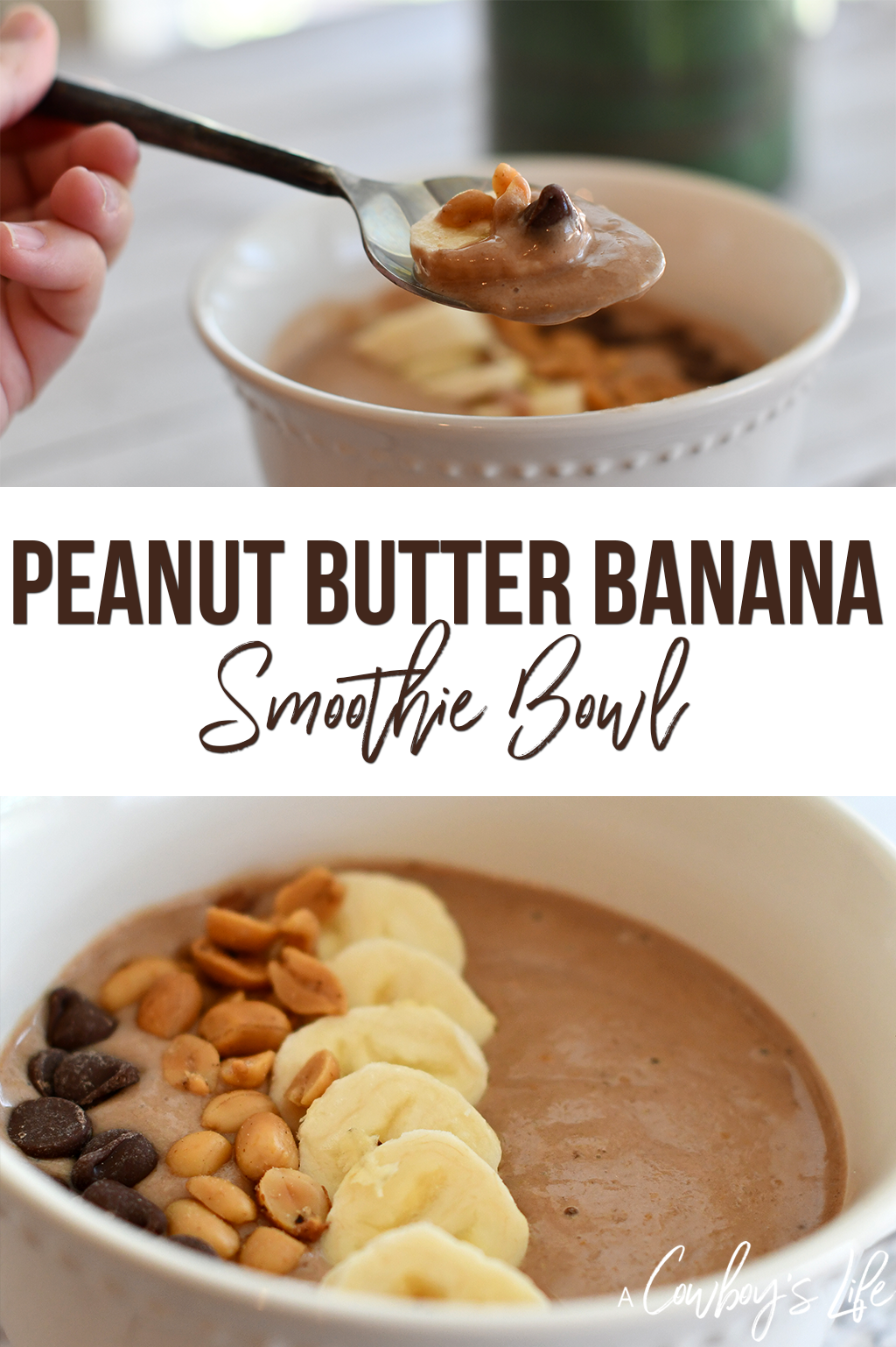 How to make a peanut butter banana smoothie bowl