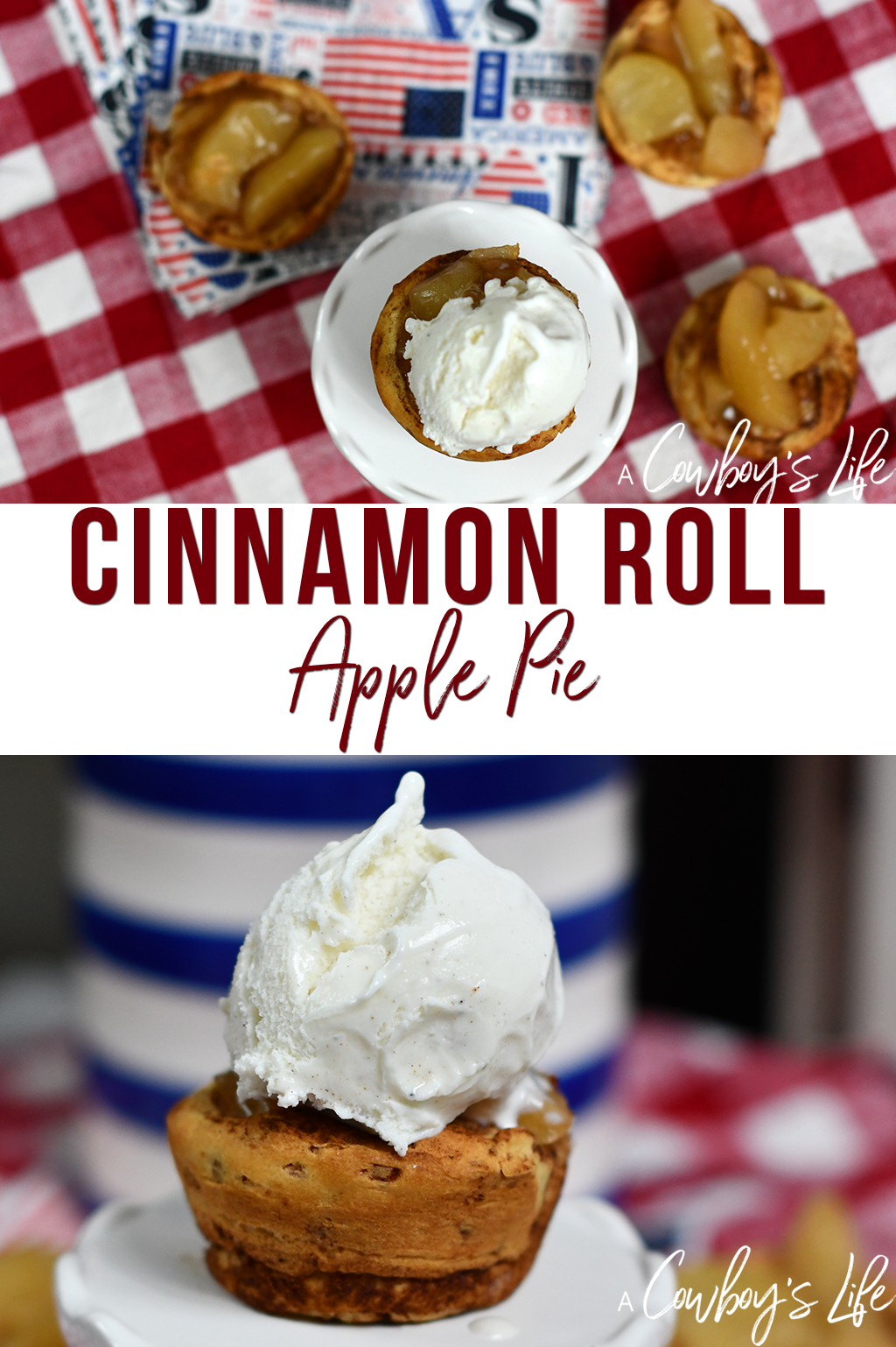 How to make cinnamon roll apple pies