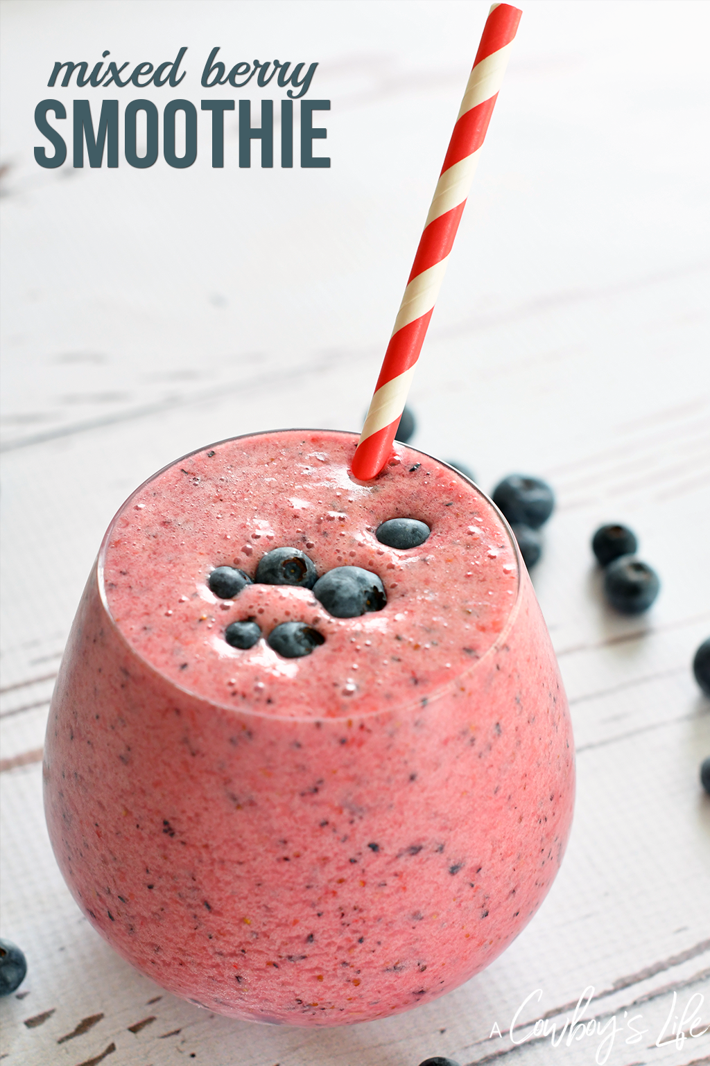 Keto friendly mixed berry smoothie