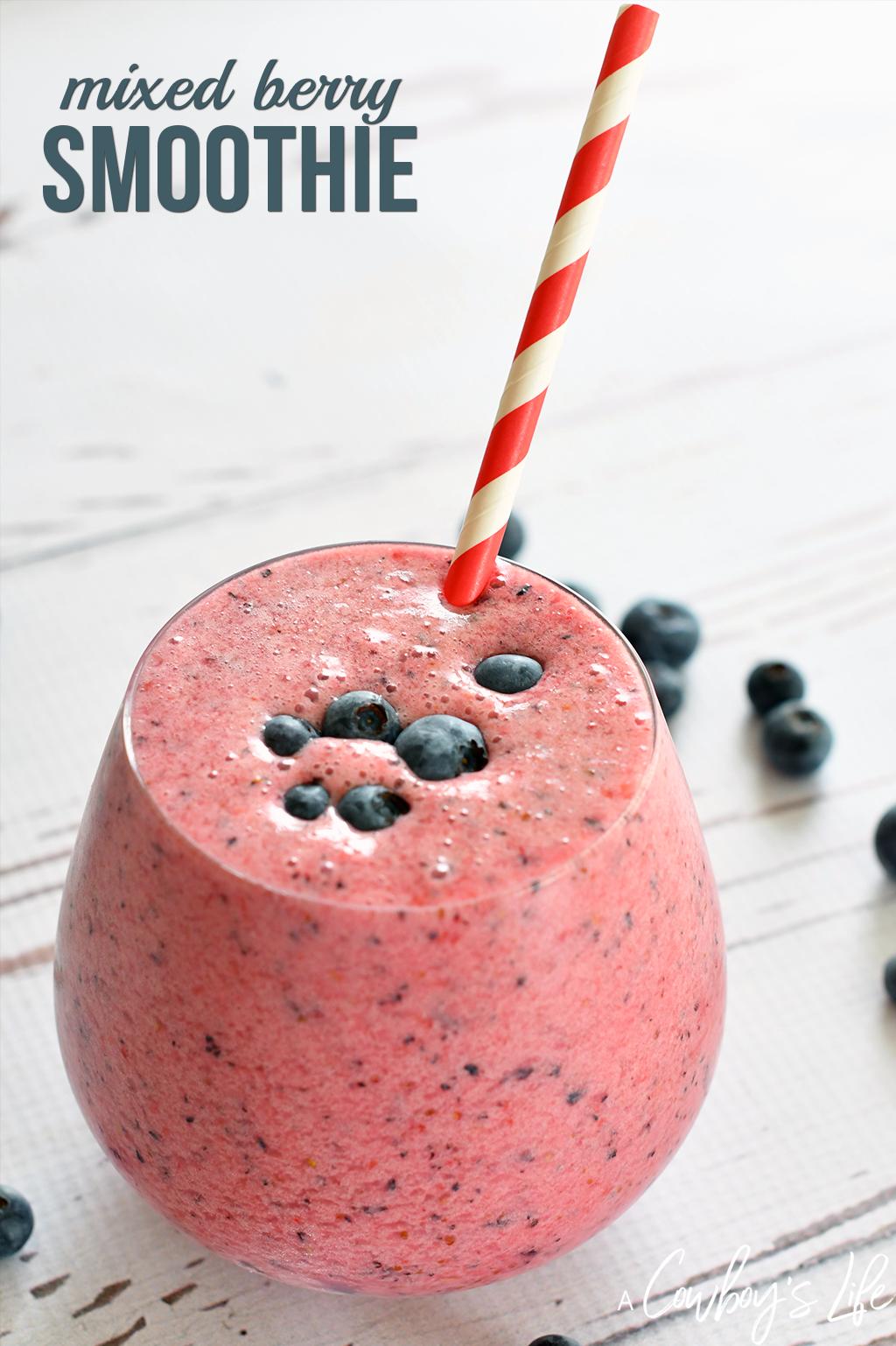 Keto friendly mixed berry smoothie