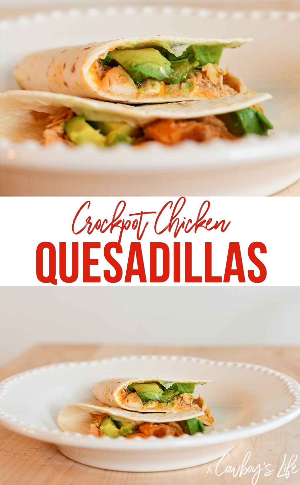 Crockpot chicken quesadillas are a great kid-friendly meal, easy to make and delicious!