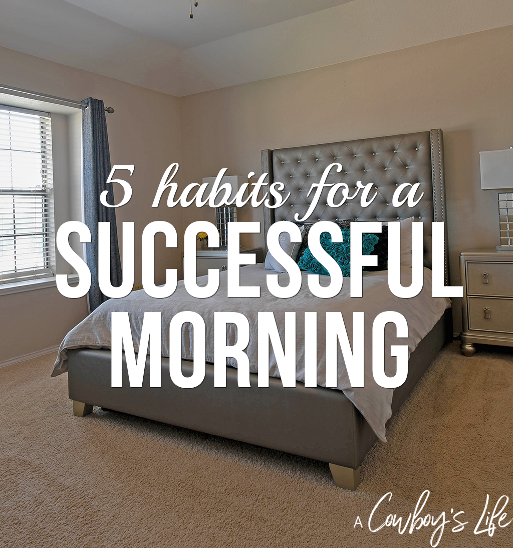 habits for a successful morning