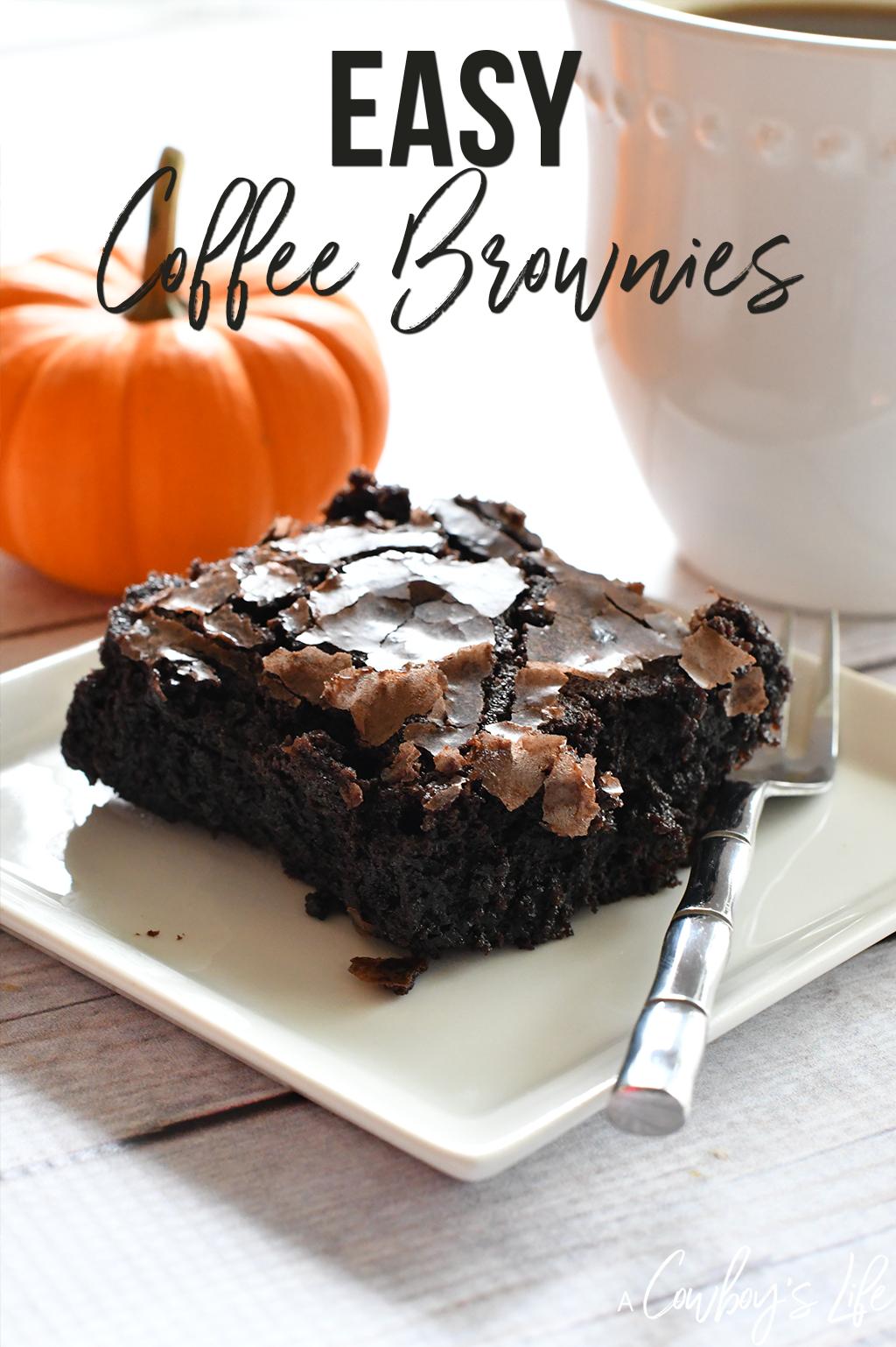 Easy Coffee Brownies