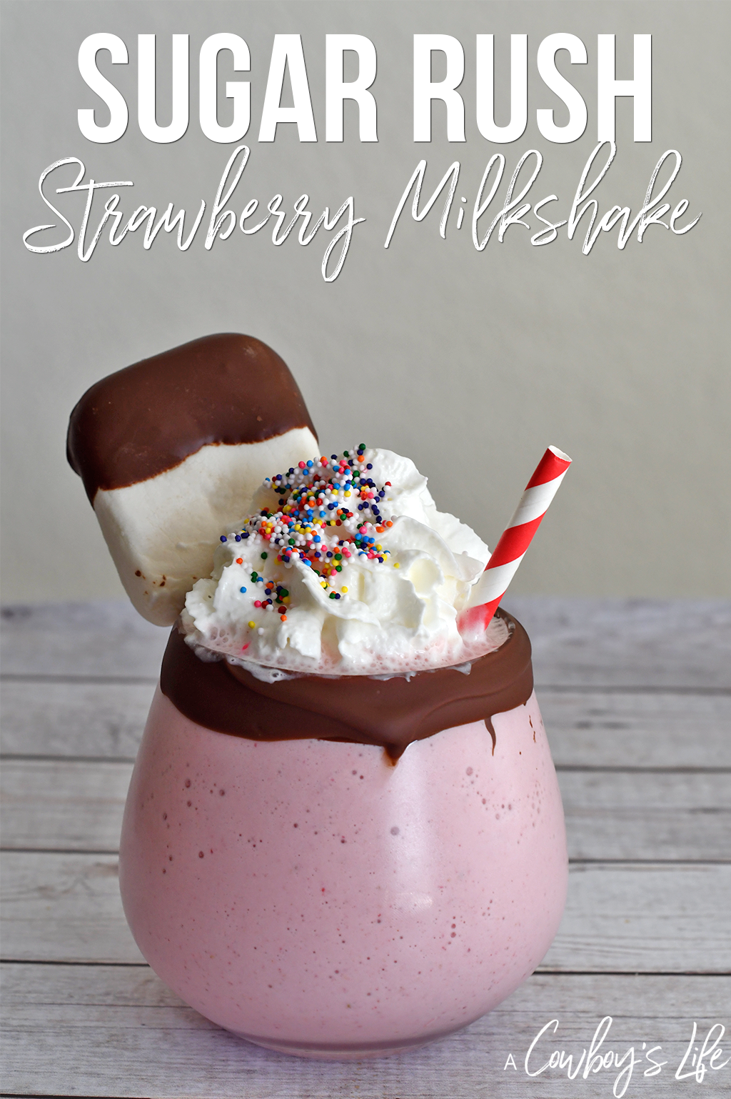 Sugar Rush Strawberry Milkshake