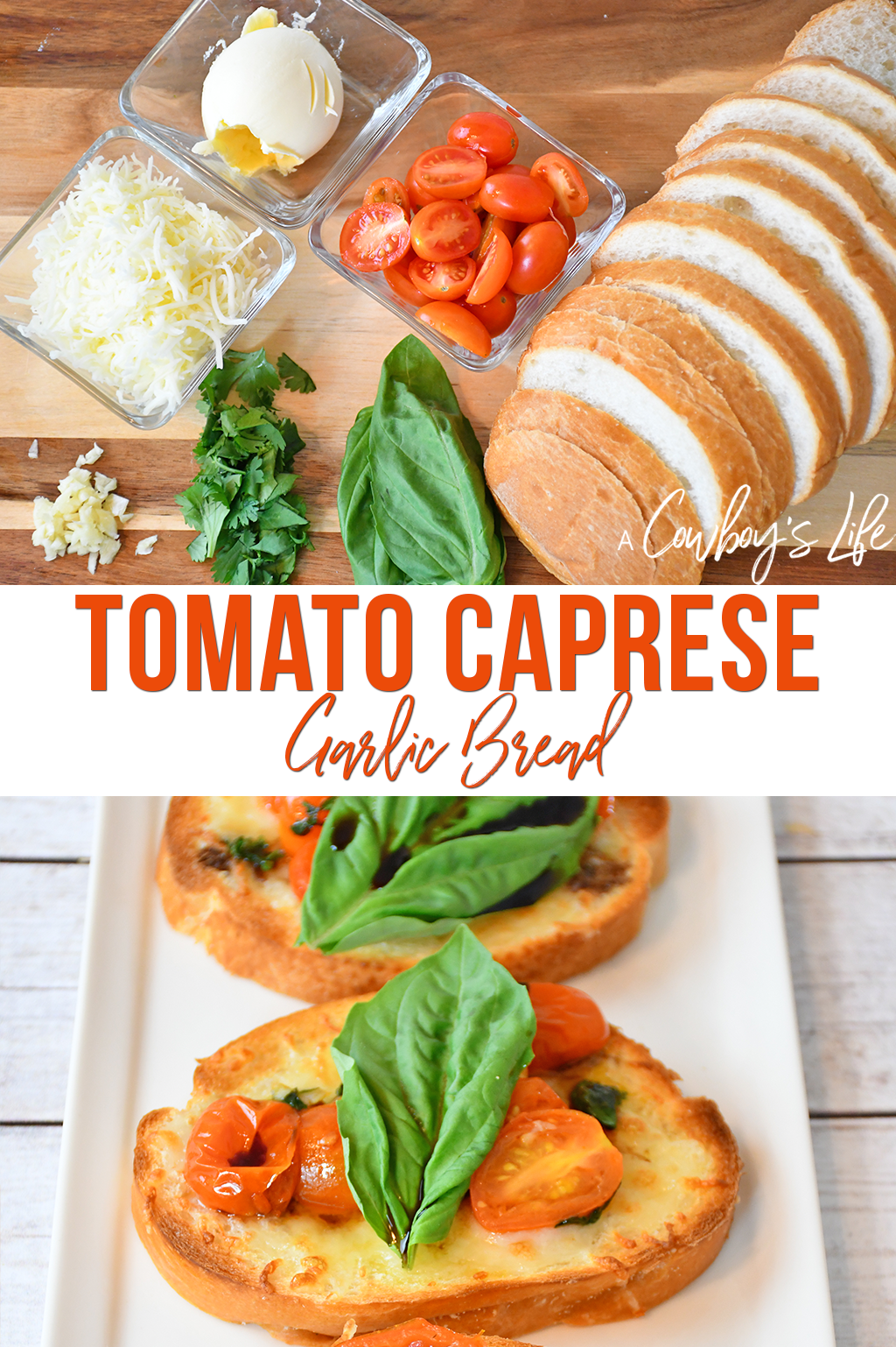 How to make tomato caprese garlic bread