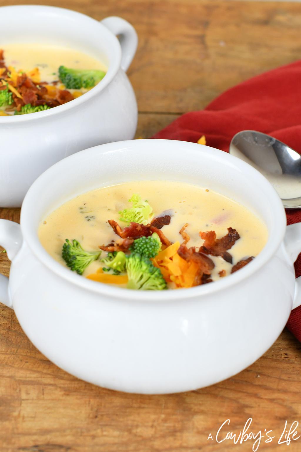 Keto Bacon Broccoli Cheese Soup