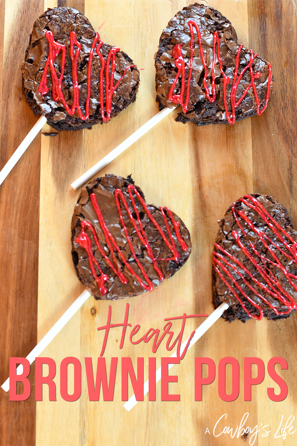 How to make heart brownie pops #heartbrownies  #dessert #brownies