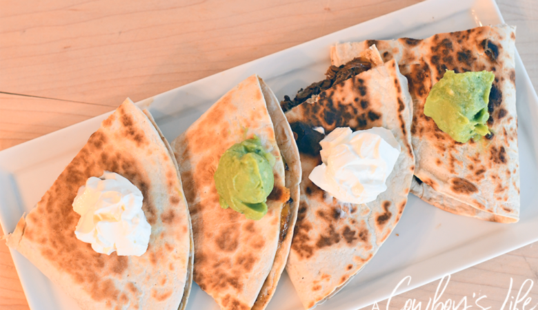 Simple and easy brisket quesadilla