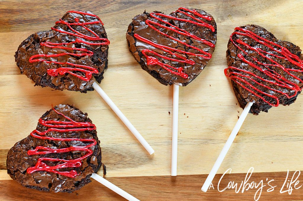Valentine's Brownie Pops