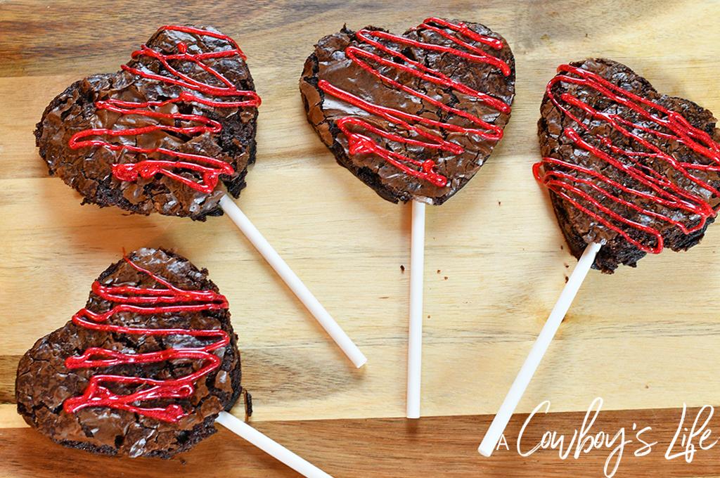 Valentine's Brownie Pops