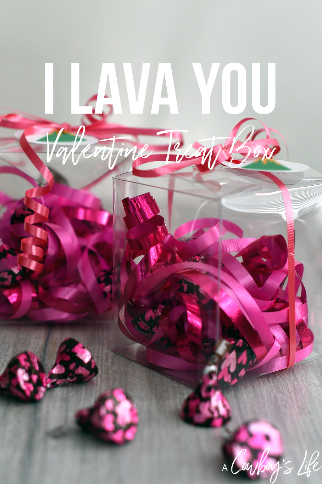 These I Lava You Valentine treat boxes are perfect for kids and adults of all ages! Be sure to download the free printable.
