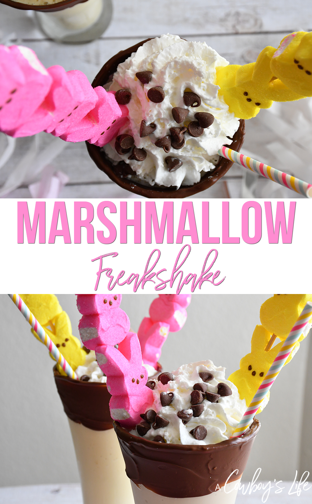 How to make PEEPS Marshmallow Freakshake #shake #milkshake #freakshake #icecream