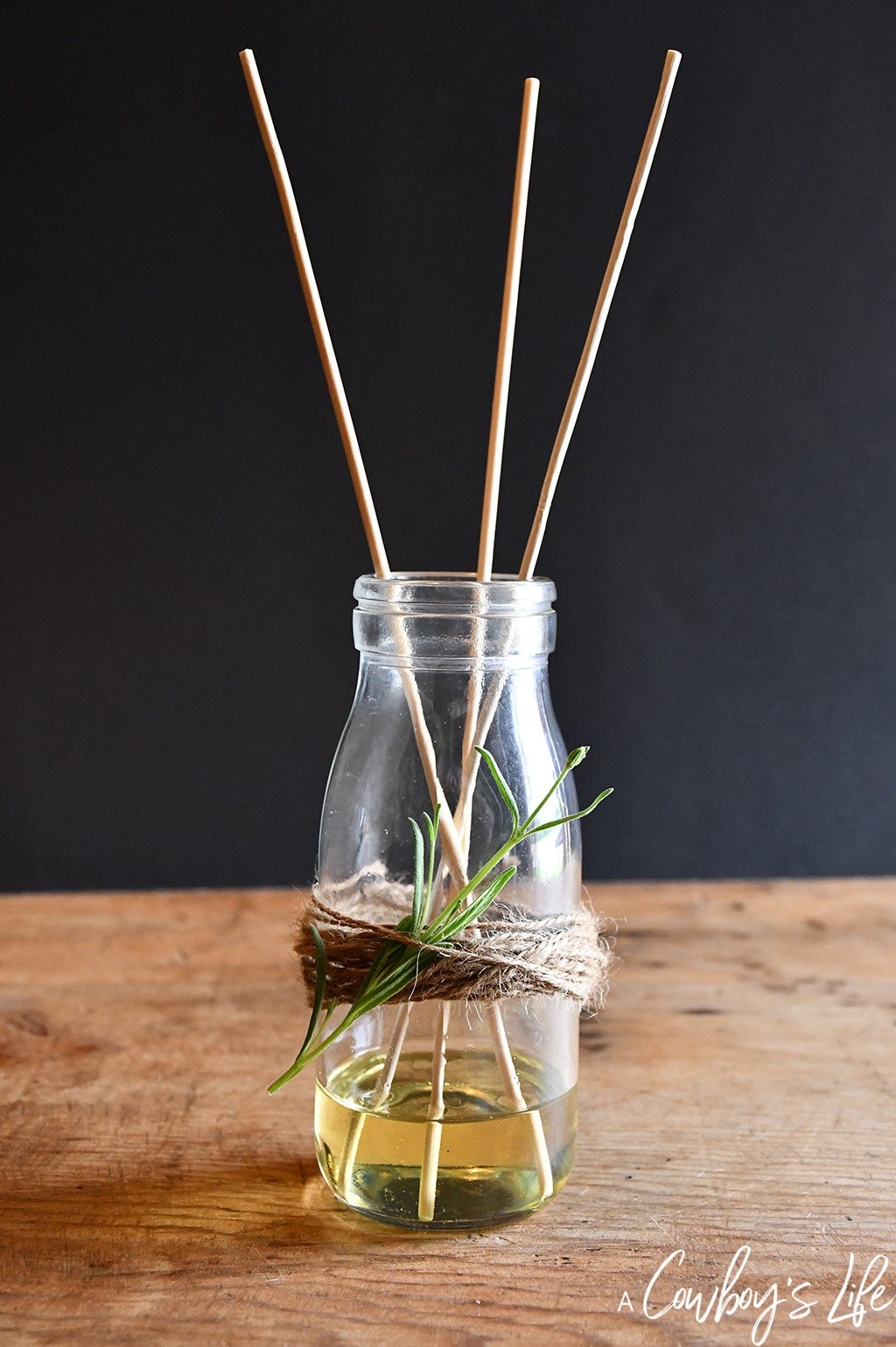 Homemade Lavender Reed Diffuser