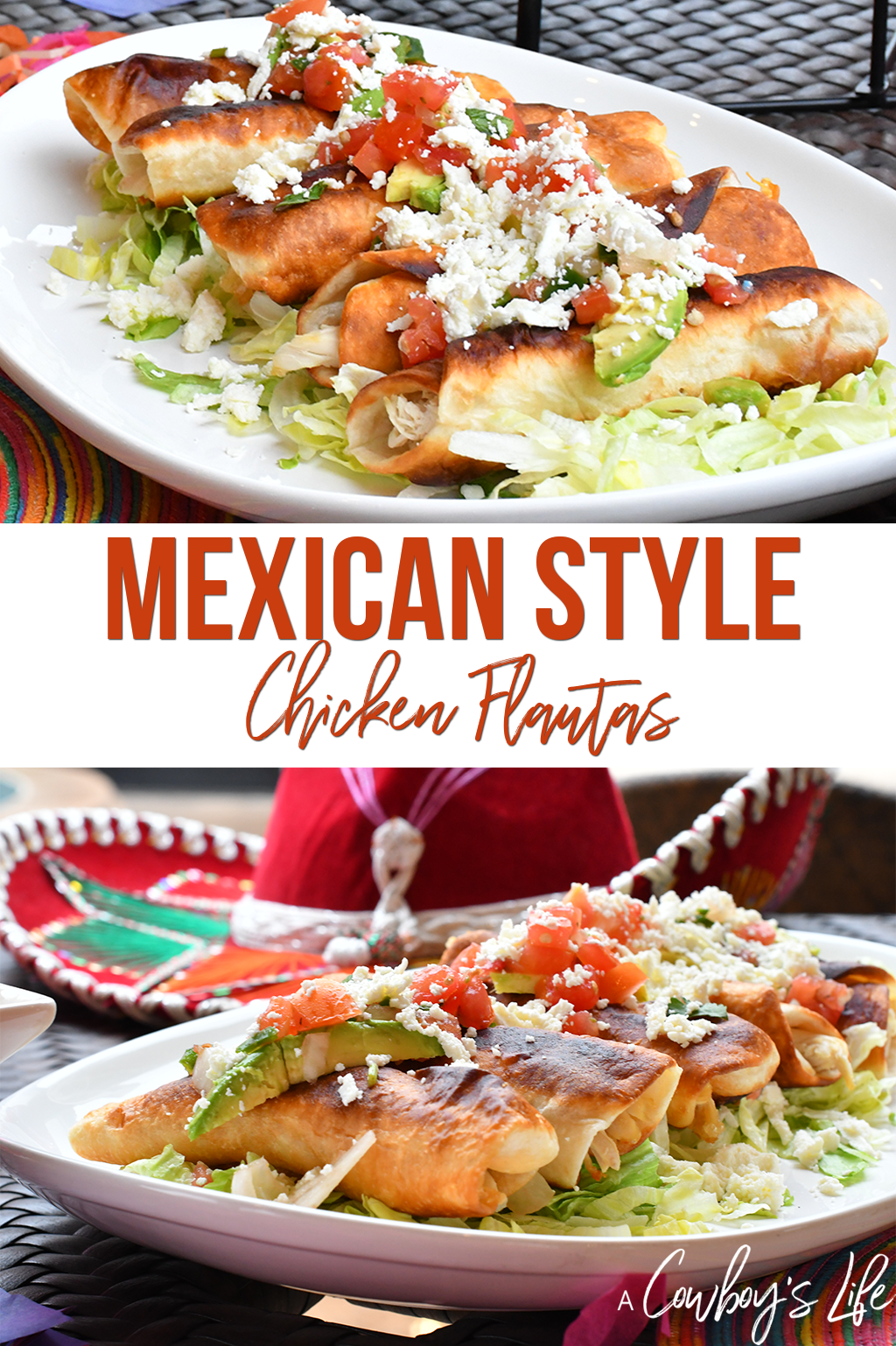 Mexican Chicken Flautas | Chicken Flautas | Mexican Food | 30 minute meals | Chicken Dinner |#mexicanflautas #chickenflautas #quickmeals