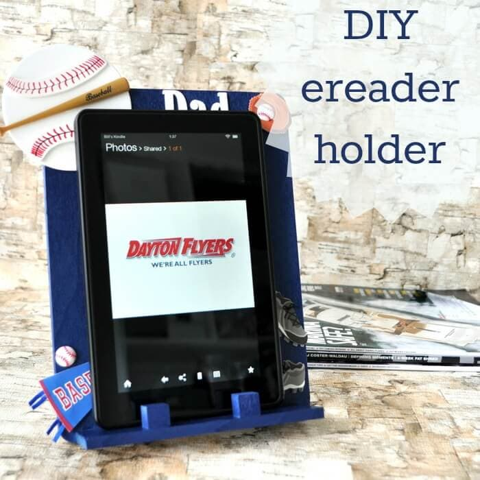 DIY Ereader Stand (Handmade Father's Day gift)