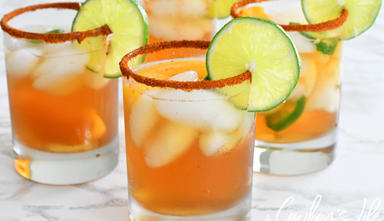 This fizzy peach jalapeño mocktail is a delicious and refreshing drink to enjoy this summer.