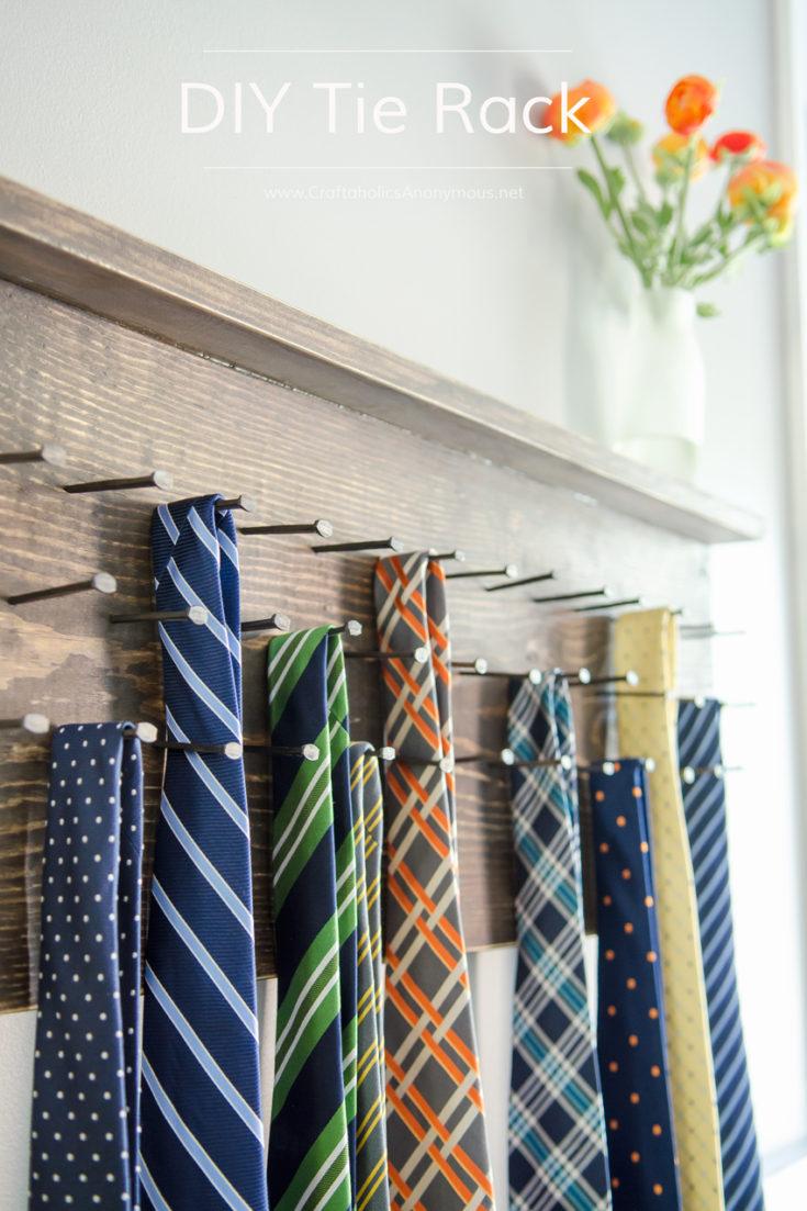 DIY Tie Rack Tutorial